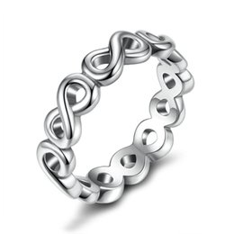 Wholesale Unique Shine - Silver Plated Infinite Shine Rings Unique Engagement Wedding Rings for Women R089