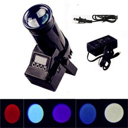 Wholesale Projector Laser Sound - Hot Christmas Laser Projector Light 10W RGBW 4in1 LED Pinspot Led Beam Spot DMX Light for Home Disco Party Stage Lighting Effect