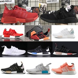 Wholesale Light Brown Colour Shoes Sports - NMD Runner R1 2017 New Colour black White red pk 3M Primeknit Men Women nmds boost Running Shoes sports Shoes Sneakers 36-45