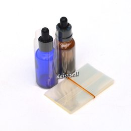 Wholesale Glass Droppers - PVC Heat Shrink Wrap film for 10ml 30ml E-liquid Glass Dropper Bottles Heat Shrink Tube Shrink Seals for e-juice Glass Bottles