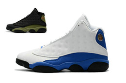 Wholesale High Grade Cotton - 2017 new air retro 13 XIII Sport Blue Men's Basketball Shoes high quality air 13s black green grade school Athletic mens sports sneakers
