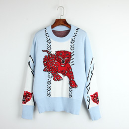 Wholesale Sweaters Womens Pullovers Knitwear - Free Shipping 2017 Women Pullovers Crew Neck Short Sleeve Blue Solid Diamond ultrathin knitwear Womens Sweaters H1