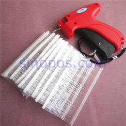 Wholesale Fabric Clothing Tags - Wholesale- [FINE] Tagging Gun Fine Fabric Kit 1, Tag Attacher + 1000 Fine Tag Pins + extra needle, Clothes Price Tag Gun set barbs fastener