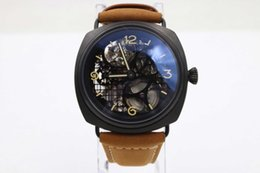Wholesale Marina Black - Hot Sell new style luxury Brand automatic Black Seal big watch mens watches leather sport black marina watches