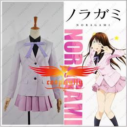 Wholesale custom school uniforms - Wholesale-Noragami Iki Hiyori School Uniform Cosplay Costume Custom Made (w0568)