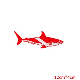 Wholesale Scuba Diver - GREAT WHITE SHARK EMBROIDERED PATCH SCUBA DIVING iron-on DIVER DOWN EMBLEM GIFT