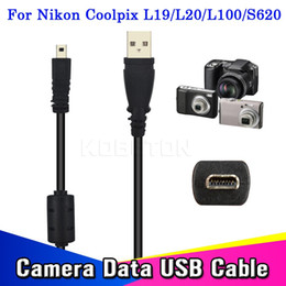 кабель usb uc e6 Скидка Оптово-Горячие Продажа 59 дюймов 1.5M USB-кабель камеры для ПК Передача заряда данных для Coolpix L19 L20 L100 S620 UC-E6 для FinePix