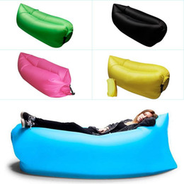 Sacchetto di cuscini all'aperto online-20PCS Lounge Sleep Bag Pigro Gonfiabile Divano Beanbag Sedia, Soggiorno Cuscino Sacchetto di Fagioli, Outdoor Self Gonfiato Mobili Beanbag