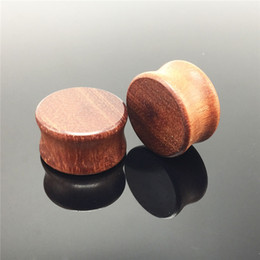 Wholesale Ear Flesh Stretchers Tunnels Plugs - Fashion piercing wood flesh tunnels and plugs ear gauge saddle expander stretcher body jewelry 8-20MM 14ps