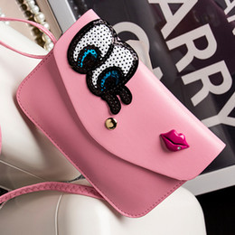 Wholesale Wholesale Coffee Bags Handbags - Wholesale-Casual Small Cartoon Eyes Handbags High Quality Ladies Party Purse Fashion Women Clutch Famous Shoulder Messenger Crossbody Bag