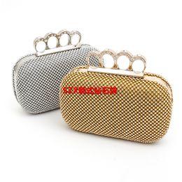 Wholesale Handmade Pearl Rings - Day clutch women bag rhinestone finger ring luxury evening bags pearl wedding evening bag diamond handmade purse bag