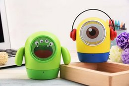 Wholesale Computer Dolls - Cartoon Cute Portable Bluetooth Mini Speaker Doll Shape Support TF Card Aux Output Hands Free Built in Microphone