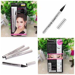 Wholesale Free Shipping Ink - Brand Fashion Makeup Eyeliner Pen WaterProof Black Ink Single Mistine Eye Liner Pencil MAXI black Cosmetic Eye Pencil 50pcs free shipping