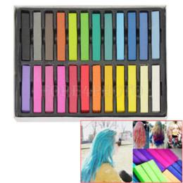 Wholesale Hair Dye Pastel Colours - Trendy 24 Colors Pack of Hair Chalk Pastels DIY Temporary Colouring Chalking Dye Hair Color Cheap Hair Color