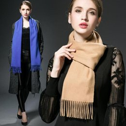 Wholesale Blue Plaid Scarf Cashmere - winter splaid carf cashmere scarf man and women lovers gift