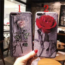 Wholesale Rose Paper Cut - Paper-cut rose case for iPhone 8 silicone shell with emboss cases for iphone 6 6s 6 plus 6s plus 7 7 plus