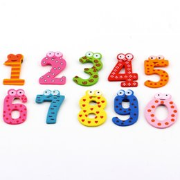Wholesale Wooden Toys Magnets - Magnet Education X mas Gift Set 10 Number Wooden Fridge Magnet Education Learn Cute Kid Baby Toy