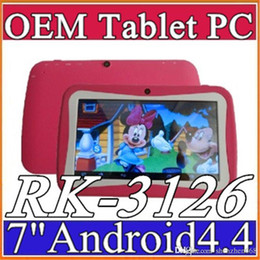 Wholesale Tablet Inch 8gb Mid - 2015 7 inch Quad Core Children Kids Tablet PC 8GB RK3126 Android 4.4 MID Dual Cam & Educational Games App Birthday Gift G-7PB