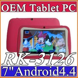 Tavoletta medio quad core online-2015 7 pollici Quad Core Bambini Tablet PC 8GB RK3126 Android 4.4 MID Dual Cam Giochi educativi App Regalo di compleanno G-7PB