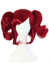 Леди 2 Клип вино красный косплей парики 14 дюймов на хвост аниме костюм парик волос - черный Дворецкий Мерлин от