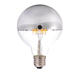 Wholesale Vintage Bowls - Vintage LED Filament Bulb 6W Sliver Bowl Edison G95 Style Warm White 2700K E26 E27 Base Decorative Pendant Lamp Dimmable