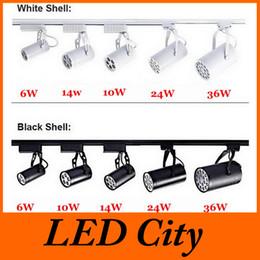Wholesale Led 12v Track - Black White Shell 6W 10W 14W 24W 36W Led Track Lights 60 Angle Warm Natural Cool White Led Ceiling Spot Light AC 85-265V CE ROHS