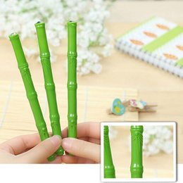Wholesale Bamboo Gel - 20pcs Lifelike Bamboo Shaped Gel Pens Writing Pen Signing Pens Student Stationery Promotional Pens Pens For Writing Material Escolar