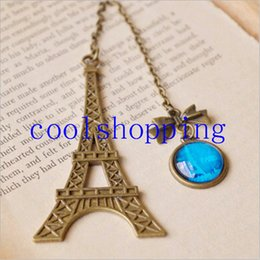 Wholesale Stationery Items For Gift - Vintage Eiffel Tower Metal Bookmarks For Book Creative Item Kids Gift Korean Stationery