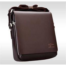 Wholesale Genuine Laptops - HOT SALE Brand Designer Men Genuine Leather Handbag Black Brown Briefcase Laptop Shoulder Bag Messenger Bag