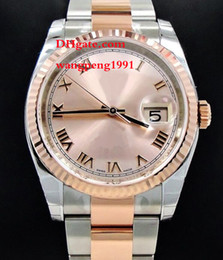 Wholesale Roman Gold Bracelet - Ladies Fashion High Qualit 31mm 116231 Oyster 18K Pink Gold Date Pink Roman Dial Stainless Steel bracelet Automatic Women Watch Watches