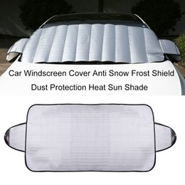 Wholesale Windshield Ice - Wholesale- Practical Car Windscreen Cover Anti Ice Snow Frost Shield Dust Protection Heat Sun Shade Ideally for Front Car Windshield Hot