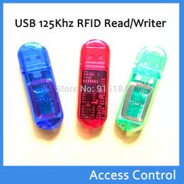 Wholesale Card Burner - MINI USB 125khz rfid reader writer id em Card kaartlezer& copier duplicater Writer programmer burner( t5577 em4305) +5PCS Tag