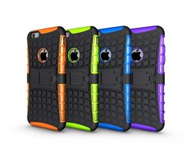 Wholesale Rugged Case For S4 - Kickstand Hybrid Case For Iphone 5 5S 4G 6 6S Plus Ipod touch 5 5th Samsung Galaxy S3 S4 S5 S6 Edge Plus S7 OnePlus 3 ShockProof Rugged Skin