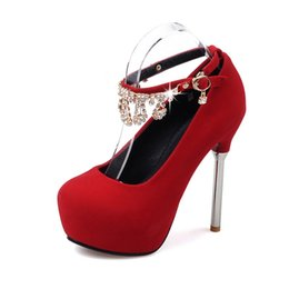 Wholesale 4cm Women Shoes - 2016 new fashion shoes high heels shoes occupation matte material heel height 13cm waterproof 4cm No. 530-17