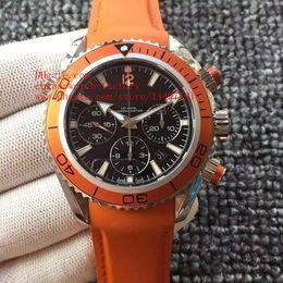 Wholesale Watch Diver Orange - Luxury Top Quality JH Factory Maker Orange 45mm Planet Ocean Co-Axial Swiss ETA 7750 Movement Chronograph Mens Watch Watches