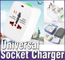 Wholesale Surge Wholesale - 2016 hot sell Travel Universal Adapter Surge Protector Fits for EU UK US AU JP 250V 10A Multifunctional Conversion Plug Converter DHL