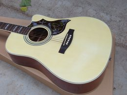 "Wholesale Hollow Guitar Case - Free Hard Case **41"" China Guitar Factory Custom Shop Cutaway Burlywood Spruce Top Rosewood Fretboard Acoustic Guitar Free Shipping"