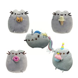 "Wholesale Donut Cake - Free Shipping EMS 5 Styles Pusheen 6.5"" with Cookie & Icecream & Donut & Cake & Rainbow Plush Doll Stuffed Toy"