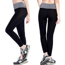 Wholesale 32 Leather Pants - WishCart Women Stretched Yoga Running Sport Pants Workout Gym Athletic Outdoor Skinny Fitness Sportswear Trousers Leather Leggins Gradient