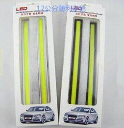 Wholesale Running Light Kit Drl - 17cm 12V Ultra-thin COB Chip LED Car Auto DRL Daytime Driving Running Fog Light Lamp Color white   ice blue   blue