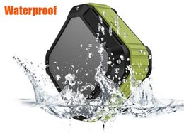 Wholesale Sports Transmission - New Cheap waterproof anti fall outdoor sports Wireless Bluetooth speakers audio support mobile phone transmission play music DHL 20pcs
