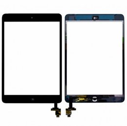 Wholesale Digitizer Sticker Ipad - For iPad mini 1 2 Touch Screen Glass Digitizer Assembly with IC with Home Button & Adhesive Glue Sticker Replacement Repair Parts mini 30