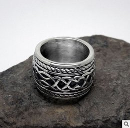 Wholesale Great Pull - Fashion Jewelry New Retro punk men cast titanium ring SA154 ring pull accessories free shipping