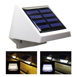 luz de la cerca del canal solar Rebajas 5PCS La lámpara solar más nueva 4LEDs Ahorro de energía Jardín exterior Lámpara de pared Solar Powered Fence Gutter Light