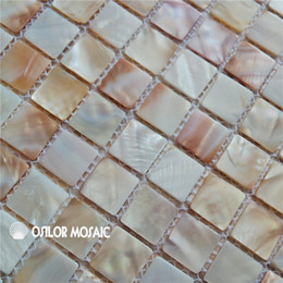 Wholesale Red Wall Tiles - natural color Chinese freshwater shell mother of pearl mosaic tile for interior house decoration bathroom and kitchen wall tile 25x25mm