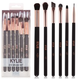 Wholesale Hair Palette - hot kylie Jenner cosmetics Complexion 6pcs Makeup Brushes Set Highlighter Eyeshadow Palette Essential Travel Brush Set