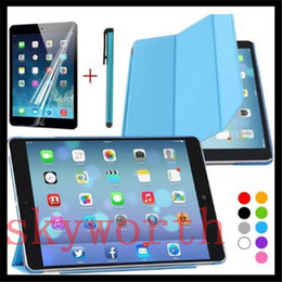 Wholesale Crystal Ipad Mini Cover - for iPad 9.7 2017 Pro air 2 3 4 5 6 mini 3 4 Smart Cover +crystal Back Case+ Screen Protector + Stylus