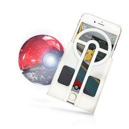 Wholesale Iphone Game Silicone Case - Poke Aimer Sleeve Pikachu Game Poke mon Go Sight Set Pokeball case Aimer Aim Assist Plate Catch Auxiliary Device for IOS