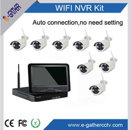 Wholesale Standalone Wifi - Wifi IP Camera System Kit 4CH NVR With LCD Wireless Camera Standalone System 4CH NVR 4 IP Camera 720P Security Camera System Kit