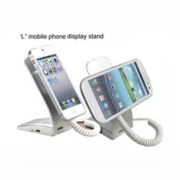Soportes para móviles online-Soporte universal de pantalla móvil de seguridad Aleación de aluminio y acero inoxidable Soporte de soporte para teléfono de metal y material